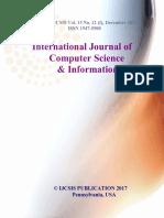 Journal of Computer Science IJCSIS December 2017 Part I
