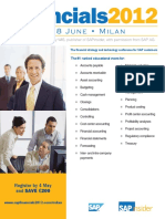Financials 2012 Milan Brochure