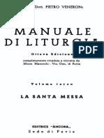 MANUALE DI LITURGIA Vol III. La Santa Messa