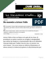 No mareéis a Arturo Valls
