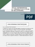 8_specificul Intervenţiei Educativ– Terapeutice (Tipuri