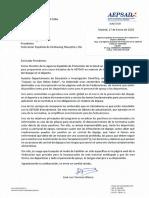 CARTA dirigida a NUESTRO PRESIDENTE (FEKM - CSD)