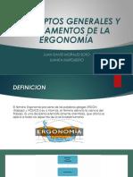 Conceptos Generales y Fundamentos de La Ergonomía