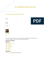 Javascript Exercises, Algorithms Practice, And Mock Interviews