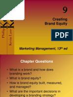 Kotler Ch 9 Brand Equity