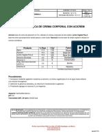 1c001 25 Fórmula Básica de Crema Corporal Con Acicrem 1
