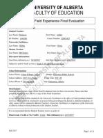 final evaluation afx