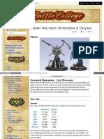 Battlecollege - Master Necrotech Mortenebra - Cryx Warcaster