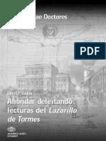 Ahondar Deleitando Analisis Del Lazarillo de Tormes