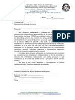 Formato 01 Carta de Presentacion
