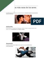 10 Parafilias Más Raras de Los Seres Humanos