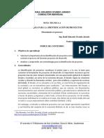 4. Nota Tecnica 2 Metodologia Para La Identificacion de Proyectos
