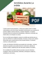 Alimentos Permitidos durante La Dieta Anticandida | Tratamiento Candidiasis