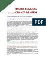 Diez Errores Comunes en La Crianza de Niños