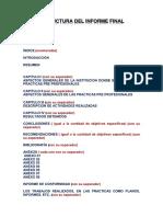 Estructura Del Informe Final
