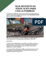 Una familia necesitó en enero  pesos 16973 para no caer en la pobreza.docx