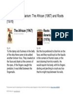 """Plagiarism comparison of  """"Roots"""" and """"The African"""""""
