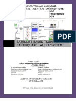 satellite based tsunami and earthquake alert system