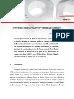 Contratos Administrativos Arbitraje Mexico