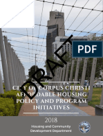 Affordable Housing Policy and Program Initiatives - Draft