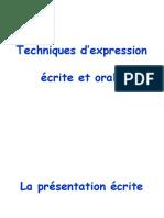 Expression Écrite Et Orale 1