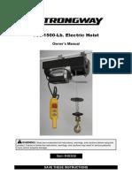 750- 1500 Lb Electric Hoist
