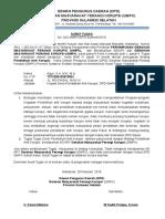 Surat Tugas Pendidikan Anti Korupsi Agus