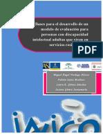 Bases Para El Desarrollo de Un Modelo de Evaluacion Para Personas Con Discapacidad Intelectual Adultas Que Viven en Servicios Residenciales