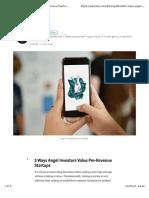3 Ways Angel Investors Value Pre-Revenue Startups – Harry Alford – Medium