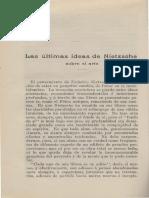 19101200 - Monitor (Año XXIX, Nro 456) - 'Las Ultimas Ideas de Nietzsche Sobre El Arte'