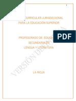 Diseño Curricular Jurisdiccional Lengua y literatura