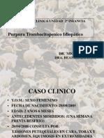 Purpura Trombocitopenico Idiopatico Dr. Valero
