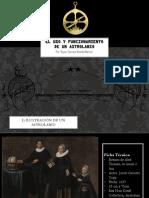 El Uso y Funcionamiento de Un Astrolabio