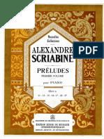 Scriabin Preludes Vol 1