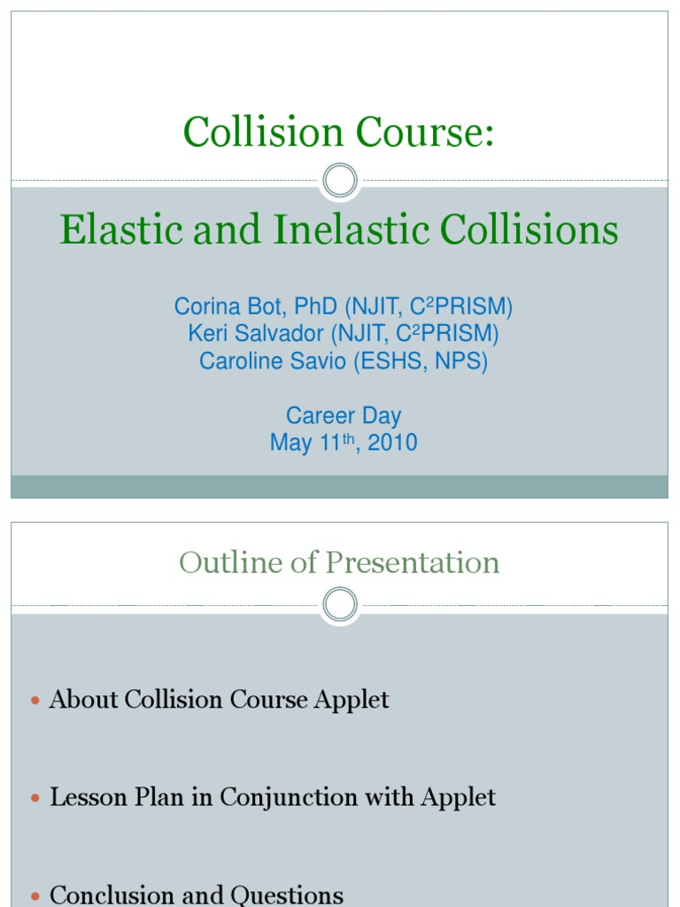 Collisions Powerpoint for Physics Apple t | Collision | Momentum