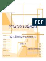 Evolución de Sistemas Económicos