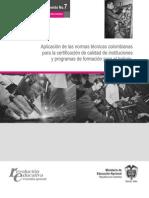 certificación de calidad de instituciones y programas de formación para el trabajo
