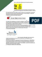 Las Principales Organizaciones e Instituciones Defensoras de Los Derechos Humanos