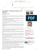 Law Speak - Housing Developers and Deposits