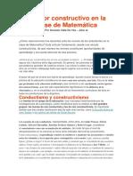 El Error Constructivo en La Clase de Matemática