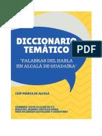 """Diccionario Temático Alcalá """"Palabras del habla en Alcalá de Guadaíra"""""""