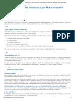 ¿Qué Es Una Renuncia Voluntaria o Por Mutuo Acuerdo_ - Portal Institucional. Dirección Del Trabajo