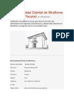 Municipalidad Distrital de Miraflores