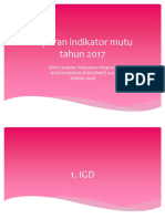 Paparan Indikator Mutu Jan-Des 2017 Sesuai Permenkes