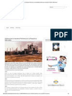 Historia de La Industria Petrolera en La República Mexicana _ Industria Petrolera Mexicana
