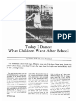 Early Childhood Education Journal Volume 12 Issue 3 1985 [Doi 10.1007%2Fbf01620053] Sandra Kolb; Anne Strickland -- Today I Dance- What Children Want After School