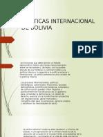 Politicas Internacional de Bolivia