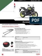 2018 Yamaha MT320 Accsheet ES ES