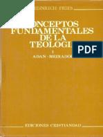 FRIES, H., Conceptos Fundamentales de Teologia, I