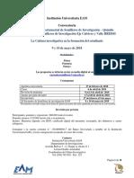 Convocatoria XI Encuentro Semilleros EAM - Quindío 2018